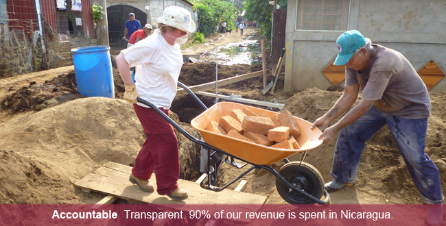 Accountability – Compañeros is financially transparent and spends the vast majority of its revenue in Nicaragua on people, programs, and projects, not property, public relations, or foreign personnel.