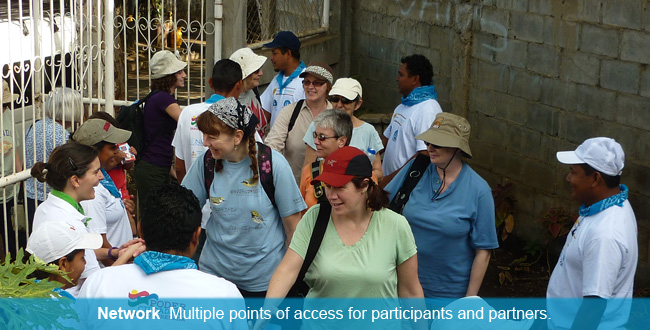 Network – Compañeros´ extensive network across Nicaragua and Canada provides width, depth and multiple points of access and entry for participants, partners, and prospective friends and allies.