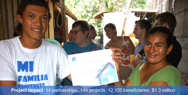 Project Impact – Compañeros has proof of success -- 14 partnerships, 149 projects, 12,135 beneficiaries – in community-driven infrastructure, education, health, and well-being projects. See our Summary of Impacts.