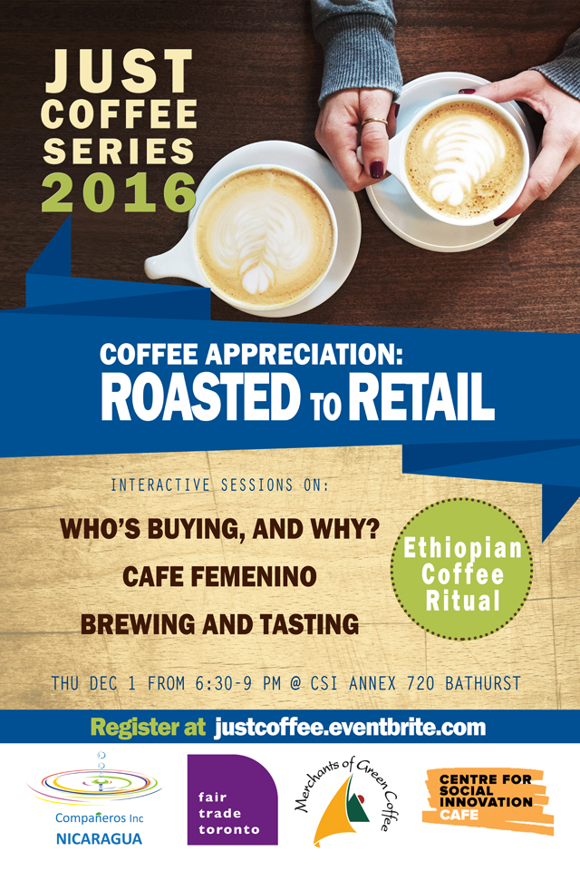 Roasted to Retail — Just Coffee Dec 1, 2016
